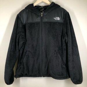 The North Face Plush Fleece Zip Up Hoodie Jacket Black XL